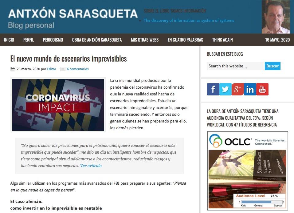 Blog personal de los artículos de Antxón Sarasqueta